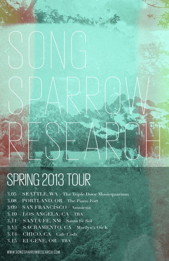 Song Sparrow Research Tour 2013 Poster